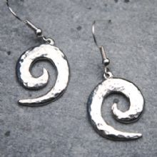 Wave spiral earrings E52